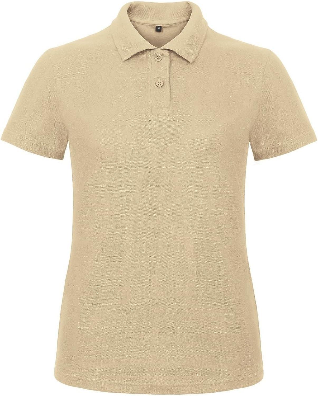 B&C Womens/Ladies ID.001 Plain Short Sleeve Polo Shirt (XL) (Sand)