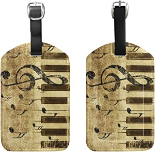 JSTEL Retro Music Note Luggage Tags Travel Bag Tag for Suitcase 1 Piece