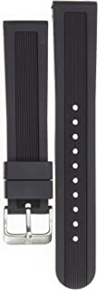 Swiss Army Dive Master Black Soft Rubber Strap Diver Watch Band 22mm X1 K