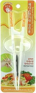 Chopsticks Edison Training/Helper Chopsticks for Left Handed Adult, Orange