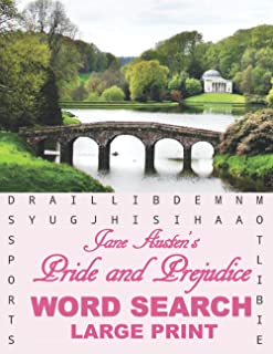 Jane Austen Word Search: Word Find book for Adults, Enjoy Word Search Based on the Classic Love Story of Elizabeth Bennet ...