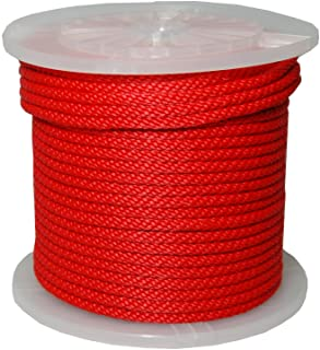 T.W Evans Cordage Co. 98330 3/8-Inch by 500-Feet Solid Braid Propylene Multifilament Derby Rope, Red