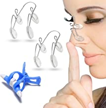 Nose Shaper Clip for Nose Up Lifting and Shaping, 3 Pcs Nose Slimmer Bridge Straightening Nose Clip, Magic Nose Higher Kit Nose Lifter and Shaper Corrector Nasal Face Beauty Tool