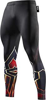 Mallas de compresión para hombre, largas, térmicas, diseño de superhéroe, para correr o hacer fitness