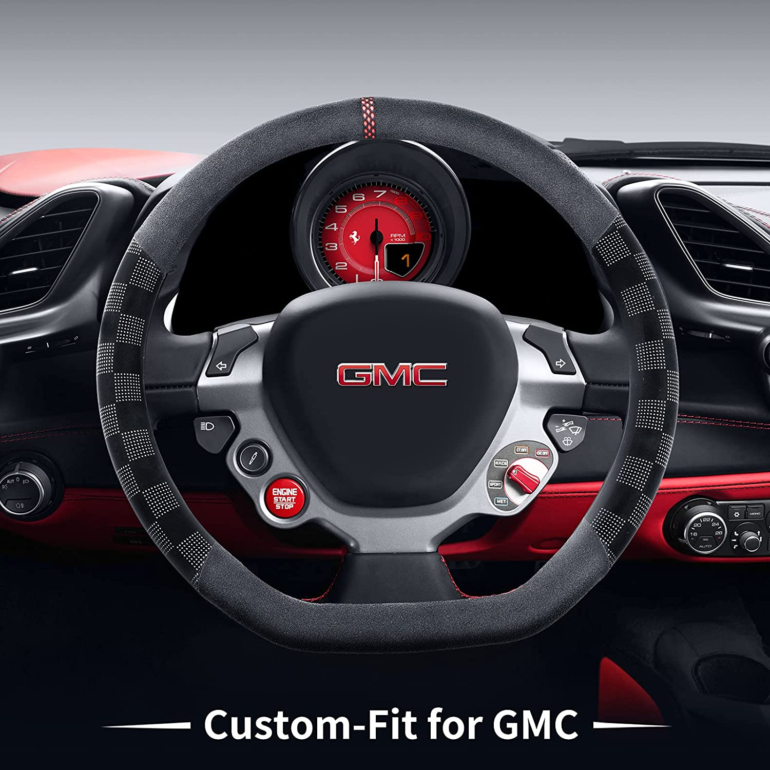 Car Steering Wheel Cover for Microfiber GMC Non-Slip Route Washington Safety and trust Mall Deer
