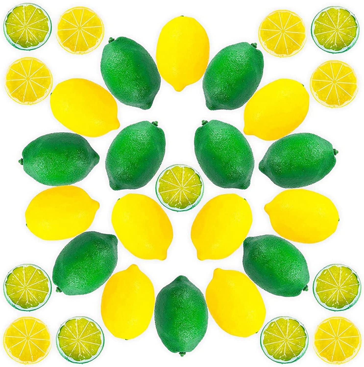 Genuine Fake Lemons Limes Set L Manufacturer OFFicial shop Artificial 12Pcs Fruit