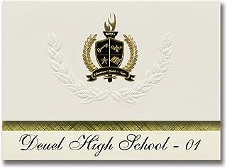Signature Ankündigungen DEUEL High School – 01 (CLEAR Lake, SD) Graduation Ankündigungen, Presidential Stil, Elite Paket 25 Stück mit Gold & Schwarz Metallic Folie Dichtung B078WFY6XR  Günstiger
