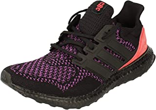 adidas Mens Ultraboost Trainers Sneakers in Core Black/Active Purple/Red.