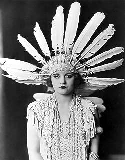Home Comforts Peel-n-Stick Poster of Tallulah Bankhead Feather Headdress Ziegfeld Follies Girl Cheney Johnston Art Deco Poster Artwork Vivid Imagery Poster 24 x 16 Adhesive Sticker Poster Print