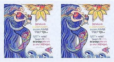 Clothworks Sea Goddess by Laurel Burch Periwinkle Panel 24 by 44 Metallic
