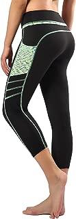 Zinmore Women's Capri Yoga Pants Exercise Running Workout Leggings Pockets