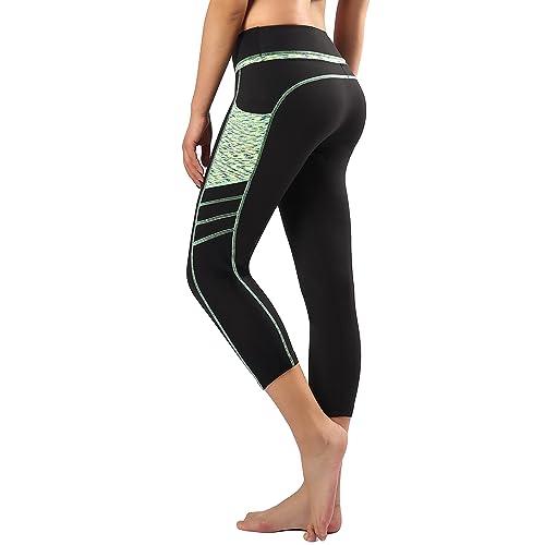 b0723510ed7168 Sugar Pocket Womens Outdoor Capris Fitness Tights Leggings Walking Running  Yoga Pants
