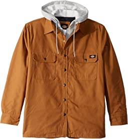 Relaxed Fit Icon Hooded Duck Quilted Shirt Jacket