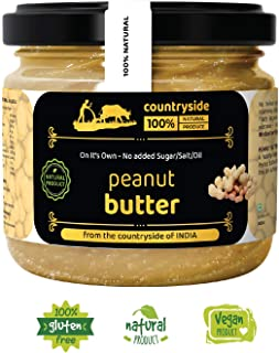 Countryside All Natural Peanut Butter[Creamy](Unsweetened, Gluten Free & Vegan) 500 Grams