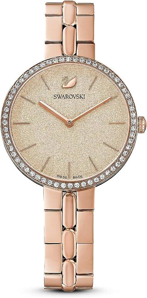 Swarovski orologio da donna, cassa in acciaio inox, cristalli swarovski 5517800