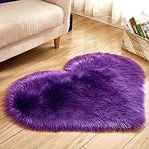 Heart-Shaped Carpet Bedroom Imitation Wool Non-Slip Warm Rugs Living Room Sofa Coffee Table Balcony Bay Window Cushion,12,...