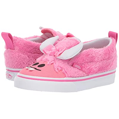 Vans Kids Slip-On V (Toddler) ((Little Monsters) Carmine Rose/Strawberry Pink) Girls Shoes