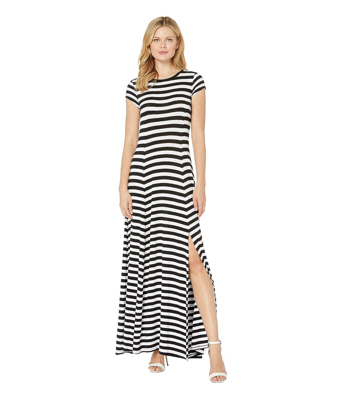 [マイケルコース] レディース ワンピース Stripe Slit Maxi Dress [並行輸入品]