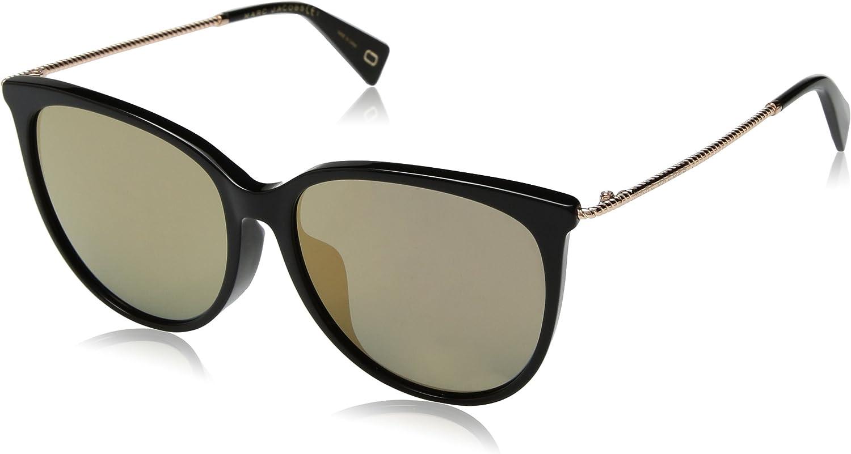 Marc Jacobs Women's Marc257fs Cateye Sunglasses BLACK 56 mm
