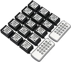 eMylo DC 12V 15x 1CH 433Mhz Wireless RF Relay Remote Control Light Switch 2pcs Transmitter with Receiver