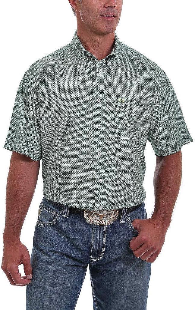 Cinch Men's Arena Flex Multi Geo Print Short Sleeve Western Shirt