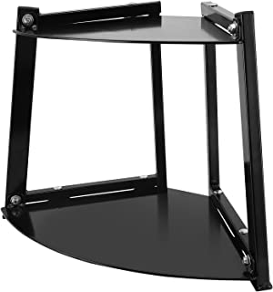 Kettlebell Rack - Sturdy, Modern 2 tier Weight Rack & Small Corner Storage   240LB Capacity - Durable Steel Frame & Shelve...