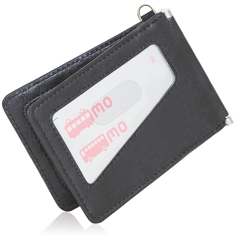 財政発掘する適切なBLUE SINCERE 革 定期入れ メンズ 2枚 バタフライ パスケース スキミング防止 0.5mm スマートタイプ PC1