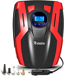 NWOUIIAY Compresor de Aire Portátil 150PSI 35L/MIN Compresor Eléctrico para Coche con LCD Pantalla Apto para inflar Neumáticos de Coche Moto y Bicicleta