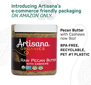 Artisana Organics Raw Pecan Butter with Cashews, Plastic, 9 oz