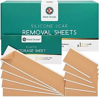 Parches para Cicatrices [11 unidades] de Medi Grade – Tiras Reutilizables para Tratamiento de Cicatrices GrandesPequeñas...