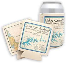Davern Lake in ONTARIO, CN (1666 LA) - Can Cooler Set of 6 - Nautical chart and topographic depth map.