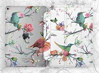 Colorful Pastel Humming Birds Case For Apple iPad Mini 1 2 3 4 5 iPad Air 2 3 iPad Pro 9.7 10.5 11 12.9 inch iPad 9.7 inch 2017 2018 2019