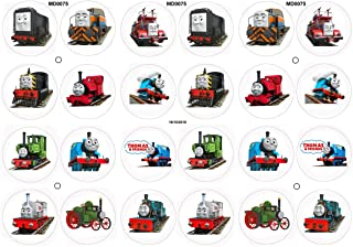 24 Fabulous Edible Pre-Cut Wafer Cake Toppers: Thomas the Tank Engine