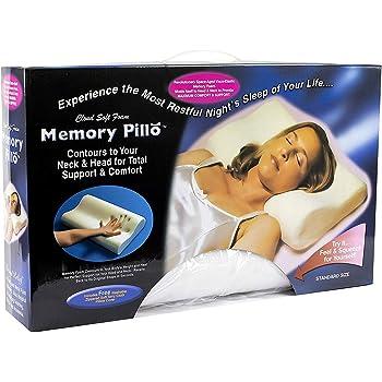 Almohada de Contorno ortop/édica Almohada de Espuma de Memoria con Funda Interior de Punto para el Lado y la Espalda Durmiente Aliviar el Dolor de Cuello y Hombro KOBWA Almohada de Espuma de Memoria