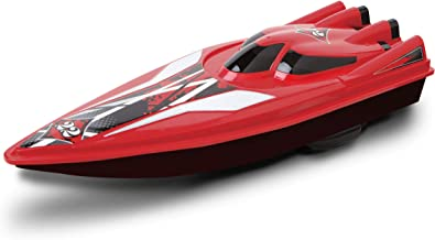 BLACK SERIES RC Speedboat Racers, Remote Control Boat with Real Motorized Propellers, Works in Water, Pools, Lake, and Freshwater Environments, 2.4 GHz, Up to 80 Feet Operating Range – RED