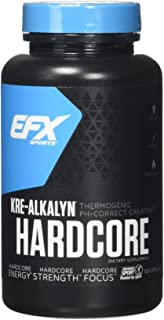 EFX Sports Kre-Alkalyn Hardcore | PH Correct Creatine Monohydrate Pre-Workout Energy| Patented Formula, Gain Strength, Bui...
