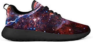 VXCVF Galaxy Universe Nebula Space Man Training Shoes for Mens Lightweight Casual