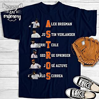 Houston Baseball Bregman Verlander Cole Springer Altuve Correa Jersey Customized Handmade T-Shirt Hoodie/Long Sleeve/Tank Top/Sweatshirt