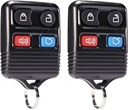 MICTUNING Keyless Entry Remote Control - Car Key Fob Replacement 4 Button Clicker Transmitter fits Ford, Lincoln, Mercury, Mazda Mustang Explorer Escape Focus Fusion Taurus (Black, 2 Pack)