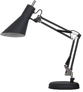ILUMINACIÓN DE DISEÑO Lámpara Mesa E27 Brazo Articulado, 6 W, Negro