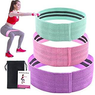 Arxus Resistance Bands for Legs and Butts, Fabric Exercise Workout Loops Bands Set of 3, Wide Anti Slip Hip Bands for Home...