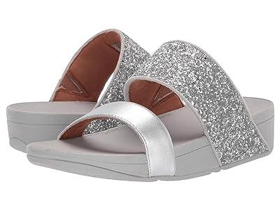 FitFlop Rosa Glitter Slide (Silver) Women