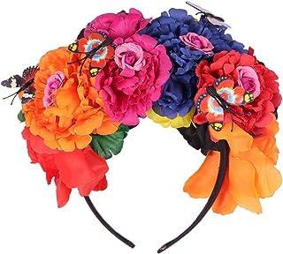 Beaupretty Diadema Corona de Flores Diadema Rosa Diadema Floral de Plástico Guirnalda Corona Floral Tocado Colorido para H...