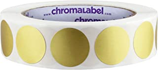 ChromaLabel 1 inch Color-Code Dot Labels | 1,000/Roll (Metallic Gold)