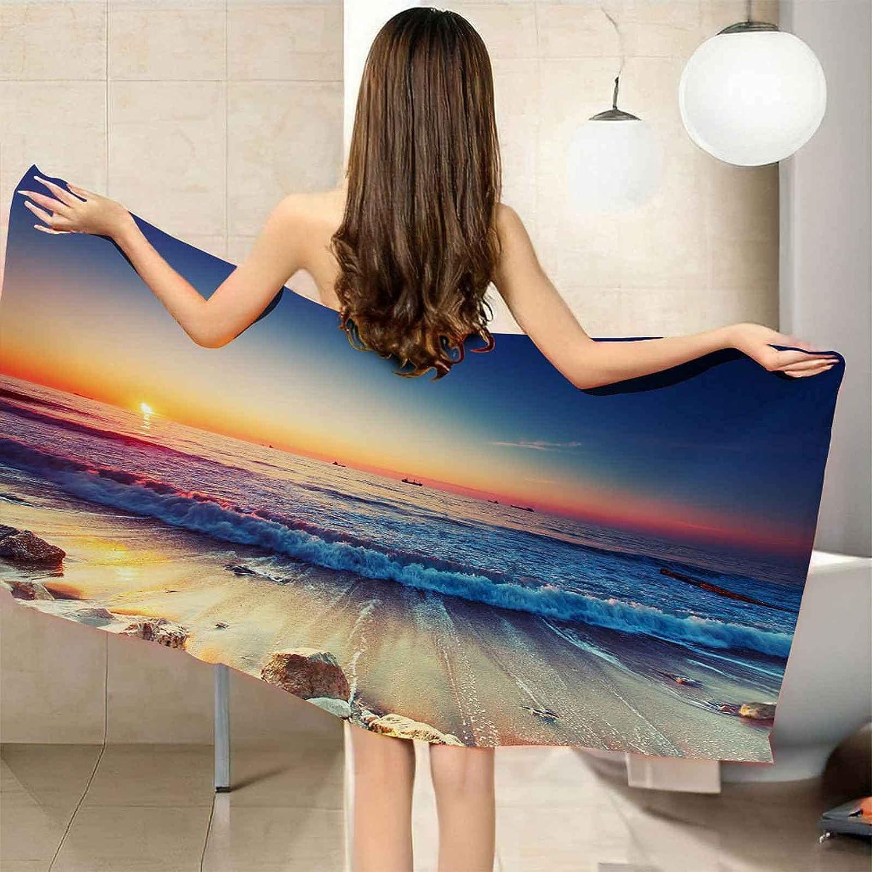 TFXDBZ Microfiber Beach Towels Max 82% OFF Wave Landscape 78.74x78.74 Colorado Springs Mall