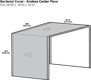 Protective Covers Inc. Modular Sectional Sofa Cover, Armless Center Piece, 28