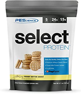 PEScience Select Protein Powder, Peanut Butter Cookie, 5 Serving, Whey and Casein Blend