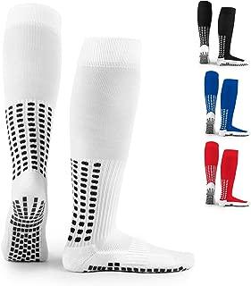 LUX Anti Slip Soccer Knee Socks,Non Slip Football/Basketball/Hockey Sports Grip Socks