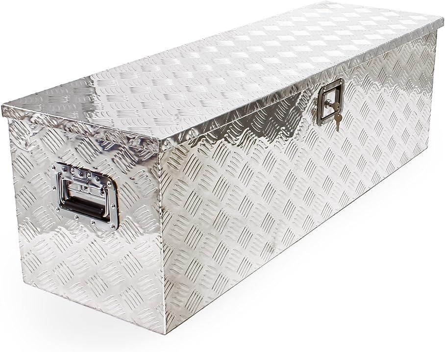Baule in alluminio portattrezzi cassa box per attrezzi utensili 1230x380x380mm 51368