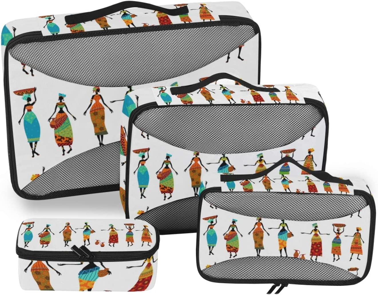 African Woman Packing Storage OFFicial mail order Bag Organizer Travel 2021 4-Pcs Accesso